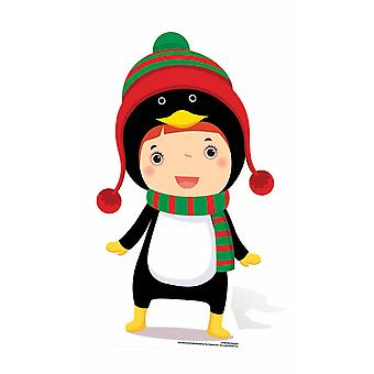 Mini Penguin Christmas Cardboard Cutout / Standee / Stand Up