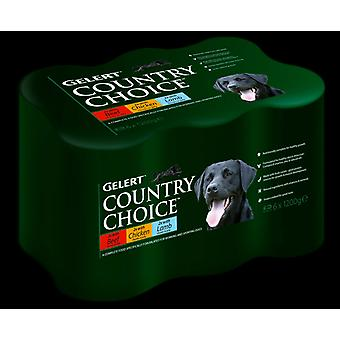 Gelert hund land valg Cij sort 6pack 1,2 kg