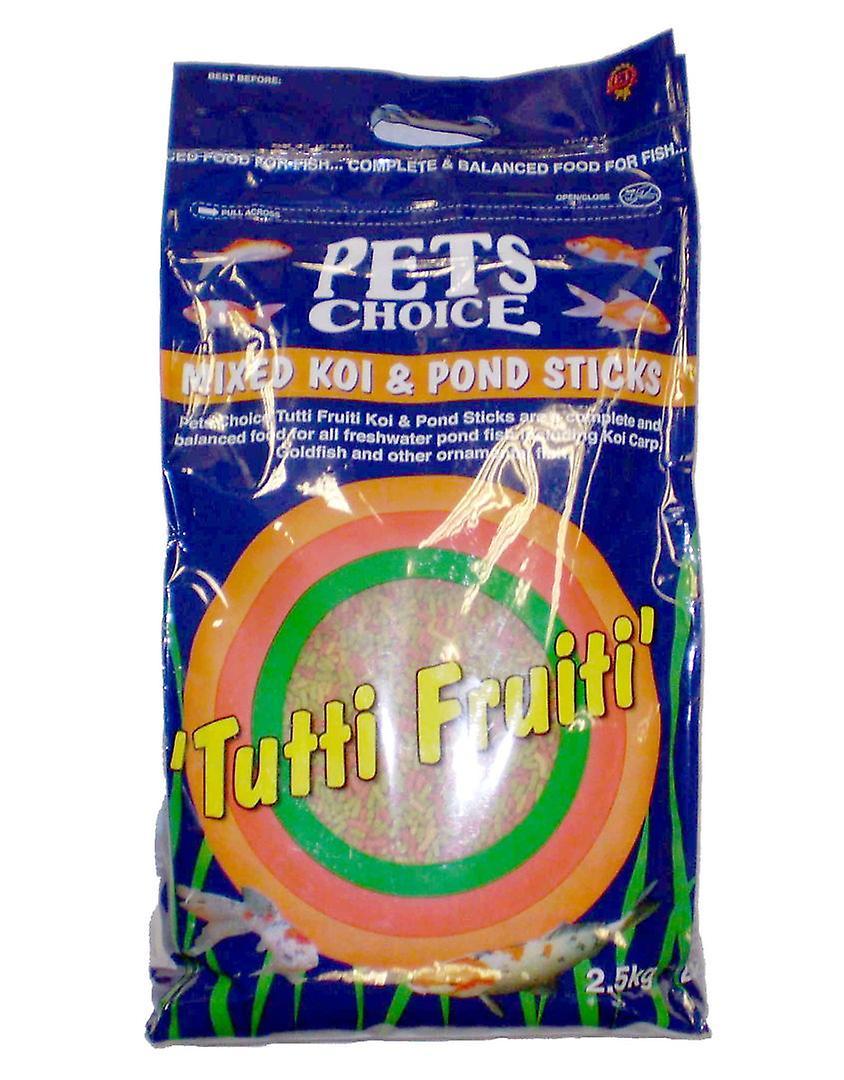 Pets Choice Tutti Frutti Mixed Koi & Pond Sticks 2.5kg