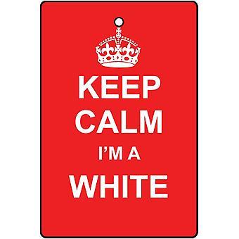Behåll lugnet jag är en vit bil luftfräschare