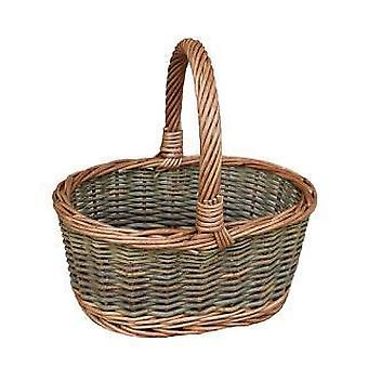 Childs Country Oval Wicker Shopping Basket