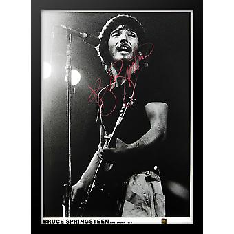 Bruce Springsteen Signed Concert Photo Poster