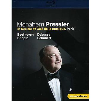 Menahem Pressler klaver betragtning [BLU-RAY] USA importerer
