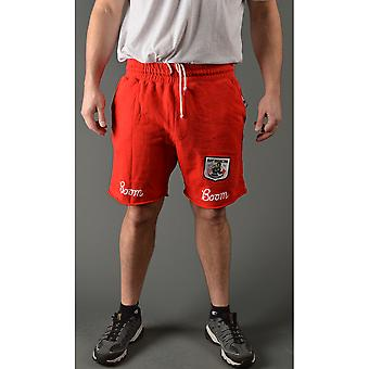 Roots of Fight Ray Boom Boom Mancini Slim Fit Drawstring Shorts - Red