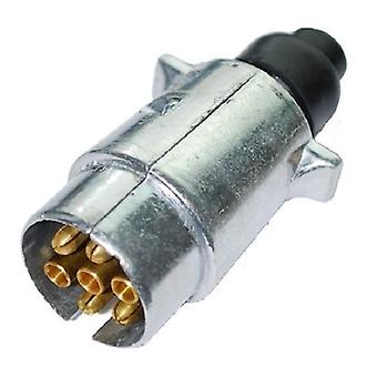 Caravan and Trailer Metal Plug with 7 Pin Core Cable Connector for Lights and Electricity