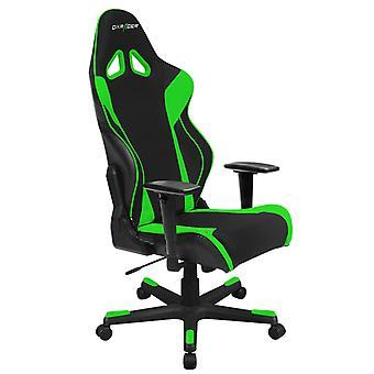 DX Racer DXRacer OH/RW106/NE High-Back X Rocker Gaming Chair Strong Mesh+PU(Black/Green)