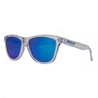 Oakley Frogskins Sunglasses In Polished Clear Sapphire Iridium