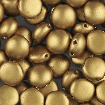 Preciosa Preciosa Candy Beads 8mm - Matte Metallic Aztec Gold - 25 Beads