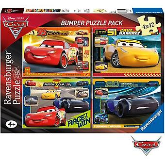 Ravensburger 4 In A Box Bumper 42 Pieces : Dca:At Cars3 (Toys , Boardgames , Puzzles)