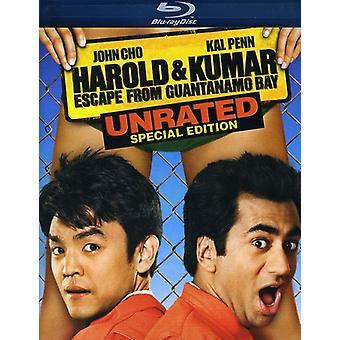 Harold & Kumar Escape From Guantanamo Bay [Blu-ray] USA importerer
