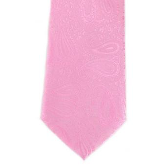Michelsons of London Tonal Paisley Polyester Tie - Pink
