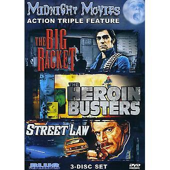 Midnat film - midnat film: Vol. 3-Action tredobbelt funktion [DVD] USA importerer
