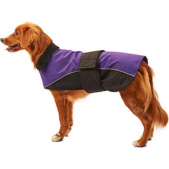 Dog Waterproof Reflective Coat-Purple Medium 701555