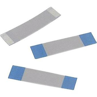 Ribbon cable Contact spacing: 1 mm 16 x 0.00099 mm² Grey, Blue