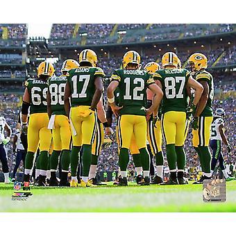 Green Bay Packers 2017 Huddle Photo Print