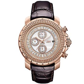 JBW men's diamond watch with Swarovski crystals rose gold