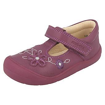 Meisjes Startrite bloem Detail platte schoenen eerste Mia