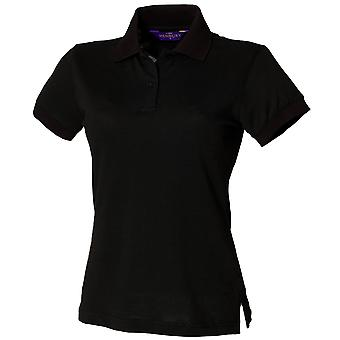 Henbury Womens/Ladies Stretch Pique Polo Shirt