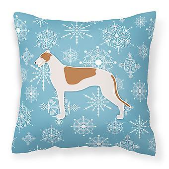 Winter Snowflake Greyhound stof decoratieve kussen