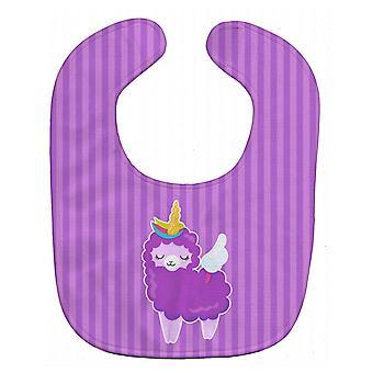 Carolines Schätze BB9143BIB Schafe Einhorn auf Streifen Baby Lätzchen