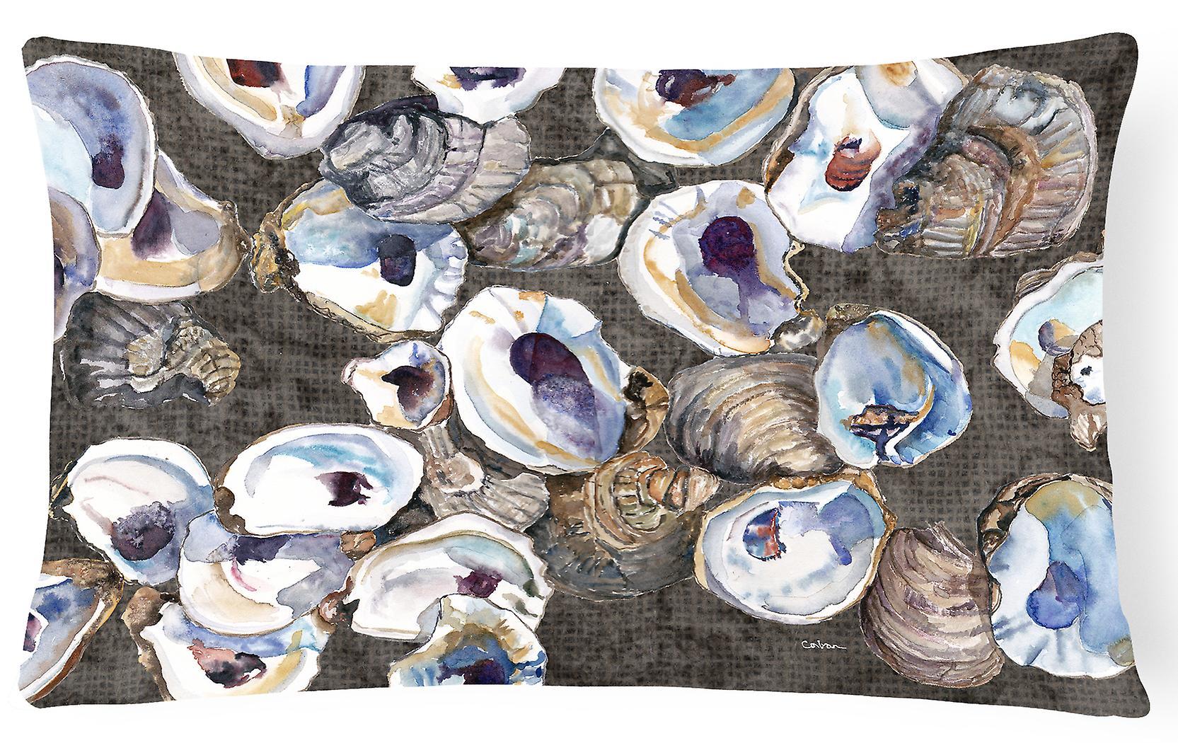 Trésors Tissu Huîtres Décoratif Toile Oreiller Des Carolines 8789pw1216 rWEdCexBoQ