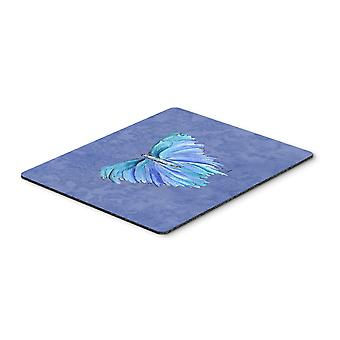 Carolines Treasures  8855MP Butterfly on Slate Blue Mouse Pad, Hot Pad or Trivet