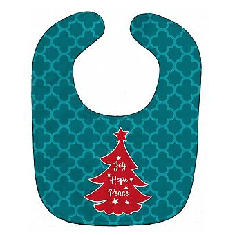 Carolines Treasures  BB6970BIB Christmas Tree Teal Red Baby Bib