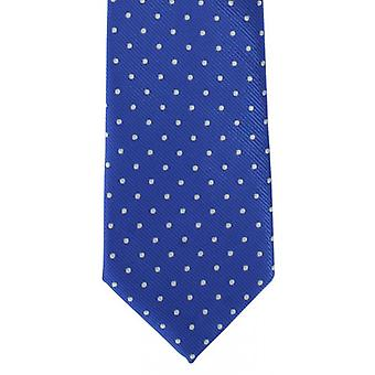 Michelsons of London Classic Spot Polyester Tie - Blue