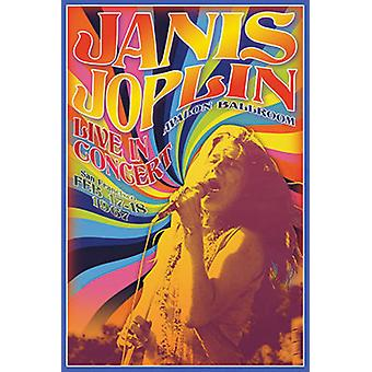 Janis Joplin - Concert Poster Poster Print