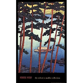 Winter at Arashiyama Poster Print by Kawase Hasui (22 x 36)