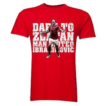 Zlatan Ibrahimovic Dare to Zlatan Man Utd T-Shirt (Red) - Kids