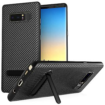 Samsung Galaxy Note 8 Case, Carbon Fibre Textured Gel Cover | Shock Absorbing | Lightweight and Slim TPU Gel Protection - Black
