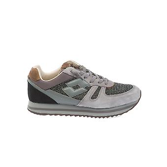 Lotto men's T0829ASPHALT grey / pink leather of sneakers