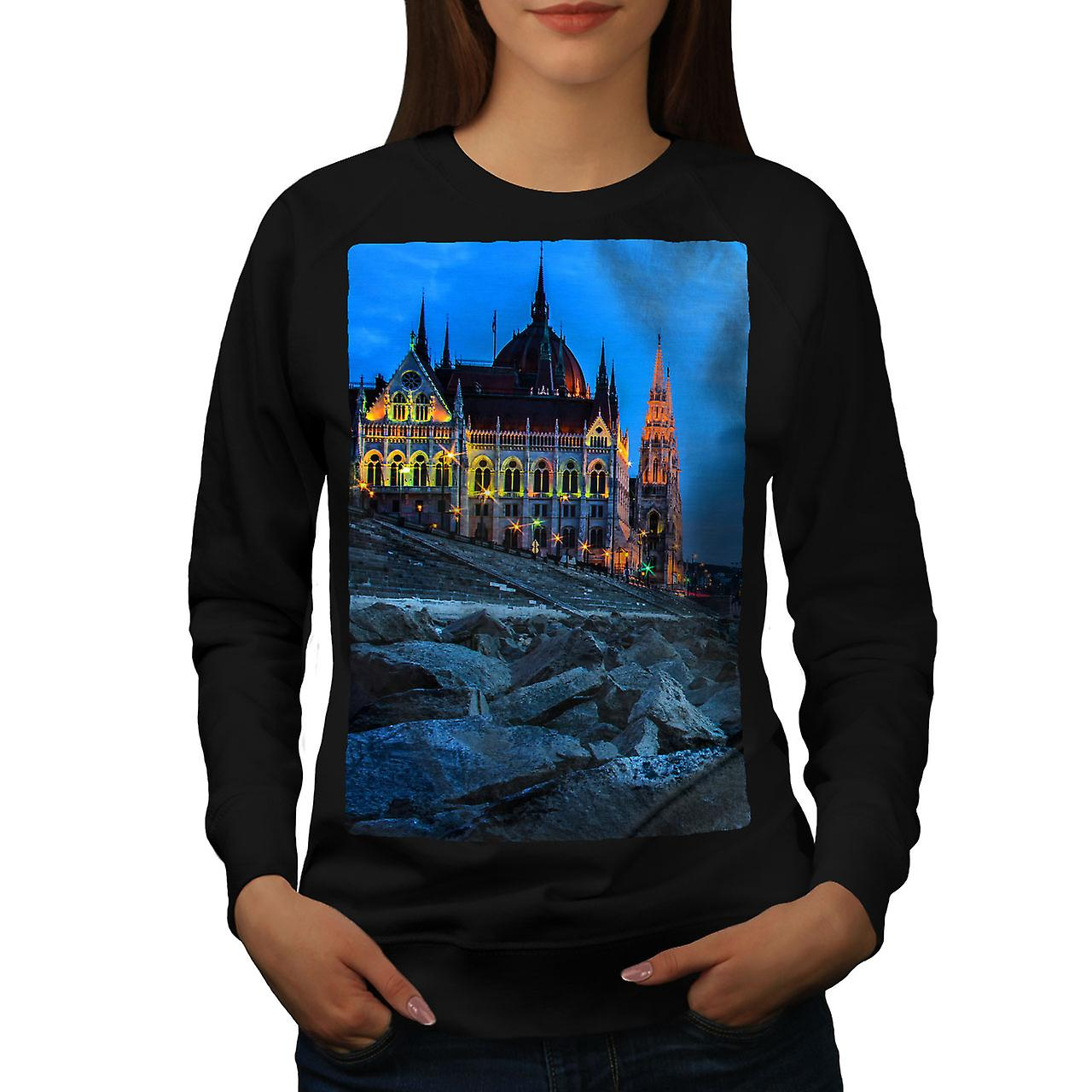 noirSweatshirt de femmes de Budapest Château Dark City