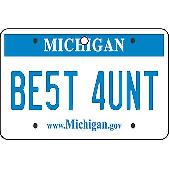Michigan - Best Aunt License Plate Car Air Freshener
