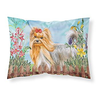 Yorkshire Terrier Spring Fabric Standard Pillowcase
