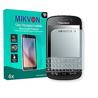BlackBerry Q10 Screen Protector - Mikvon Clear (Retail Package with accessories)