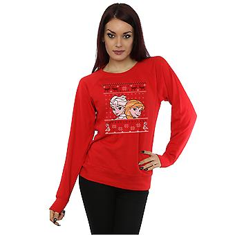 Disney Frauen gefrorenen Weihnachten Anna und Elsa Sweatshirt
