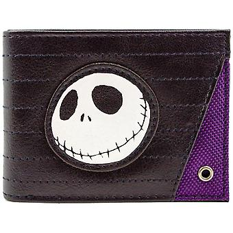 Nightmare Before Christmas Jack Skellington Stitched ID & Card Bi-Fold Wallet