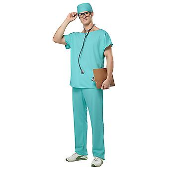 Doctor Scrubs Hospital Surgical Uniform Role Play Surgeon Mens Costume