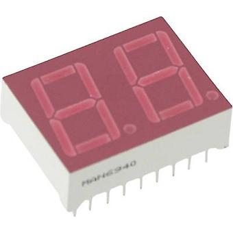 Seven-segment display Red 14.22 mm 2.5 V No. of digits: 2