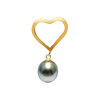 Heart and Tahitian Pearl pendant and gold 750/1000