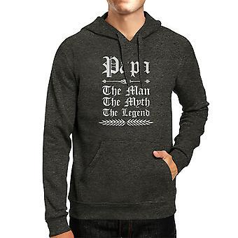 Vintage Gothic Papa Mens/Unisex Cool Grey Pullover Hooded Sweatshirt Casual Wears