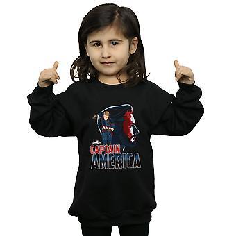 Marvel Girls Avengers Infinity War Captain America Character Sweatshirt