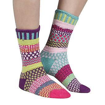 Dahlia recycled cotton multicoloured odd-socks | Crafted by Solmate