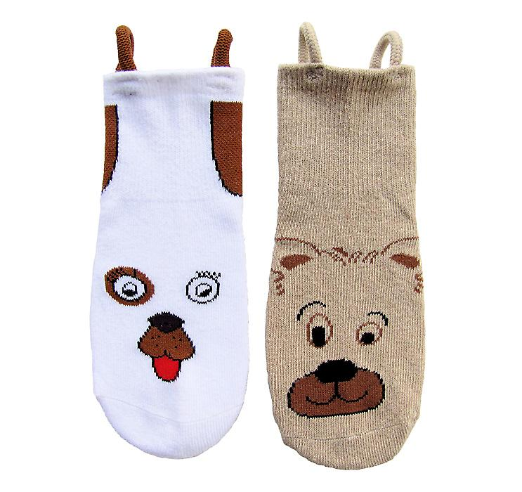 Dog & Bear EZ SOX Socks - 2 Pairs, 2 to 3 Years