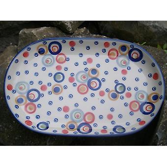 Plate, 23 x 14 cm, Motley, BSN J-2728