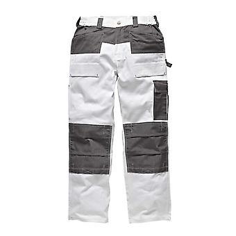 Dickies Mens GDT290 arbetskläder byxor vit grå WD4930W