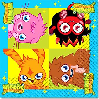 Moshi Monsters partij papier Luncheon Servetten 2ply