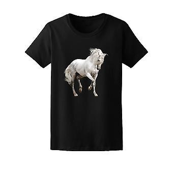 Fantastiske hvite andalusiske hest Tee kvinners-bilde av Shutterstock